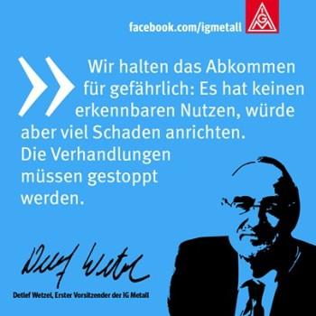 Wetzel, Anti-TTIP