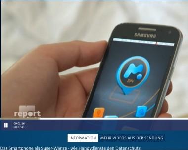 Report, smartphone als Wanze
