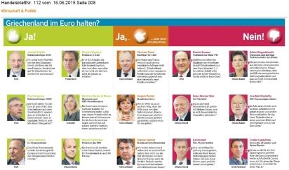 Grexit-Debatte - Positionen, HB 16.6.15