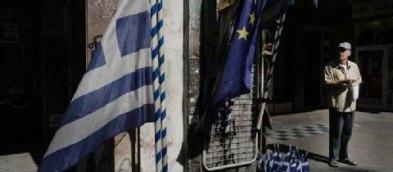 Flagge Griechenland - EU